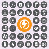 Energy power and environment icon set.Vector/EPS10 Stock Images