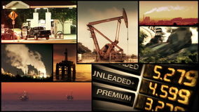 Energy, Power and Fuel Video Montage Stock Image