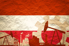 Energy and Power icons set with Austria flag Stock Images