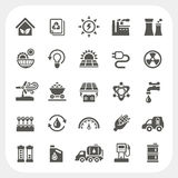 Energy and Power icons set Royalty Free Stock Photo