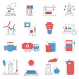 Energy power line icons set Royalty Free Stock Photo