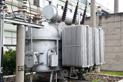 Electric power transformer device Stock Images