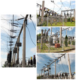 Electric power plant collage  Stock Image