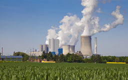 Energy power plant pollution Royalty Free Stock Photo