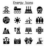 Energy & Power supply icons. Energy & Power supply icons  illustration graphic design Stock Photos