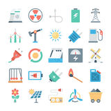 Energy and Power Vector Icons 2 Royalty Free Stock Photos