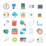 Energy and Power Vector Icons 5 Royalty Free Stock Photos