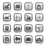 Energy producing industry and resources icons Stock Photography