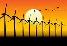 Energy-producing Windmills Stock Images