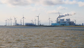 Energy production at the Eemshaven seaport in Groningen, Netherl Stock Photo