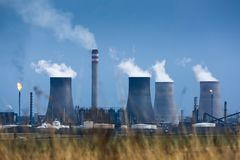Energy Production Factory royalty free stock photo