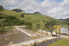 Energy production:  hydroelectric power plant Royalty Free Stock Photography