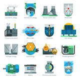 Energy Production Icons Royalty Free Stock Photos