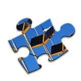Energy puzzle Stock Image