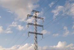 Energy pylon. Eletrocity pylon on sky background Stock Photo