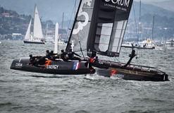 Energy racing in the Americas Cup Stock Image