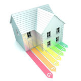 Energy Rating. A Colourful 3d Rendered Energy Rating Concept Illustration Royalty Free Stock Image