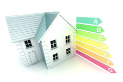 Energy Rating. A Colorful 3d Rendered Housing Energy Rating Concept Illustration Stock Image