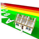 Energy rating certificate concept of building vector illustration