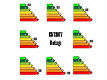 Energy Ratings. Energy saving scale - ratings A to G Stock Photos