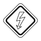 Energy ray caution sign Stock Photo