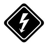 Energy ray caution sign Stock Photos
