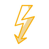 Energy ray caution sign Royalty Free Stock Image