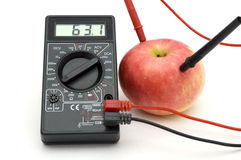 Energy of red apple Royalty Free Stock Photo