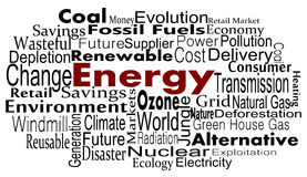 Energy. And Renewable  concept in word collage Royalty Free Stock Photography