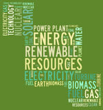 Energy renewable resources Stock Photography