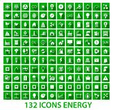 Energy and resource icon set Stock Photography