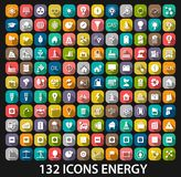 Energy and resource icon set Stock Images