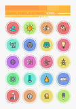 Energy and Resource Icon Set. Thin lines icons energy and resource icon set power and energy production, electric industry, natural energy sources. Energy Stock Photo