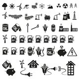 Energy and resource icon set Stock Image