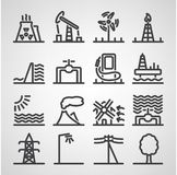 Energy and resource icon set Stock Photo