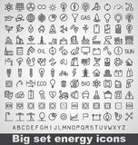 Energy and resource icon set Royalty Free Stock Image