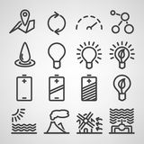 Energy and resource icon set Royalty Free Stock Photography