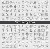 Energy and resource icon set Stock Photos