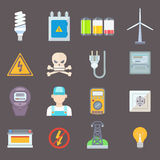 Energy and resource icon set vector illustration Royalty Free Stock Image