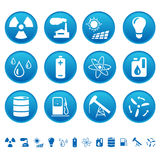 Energy & resource icons. Set of energy and resource icons royalty free illustration