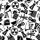 Energy resources black and white seamless pattern Stock Photography