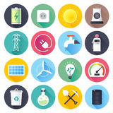 Energy Resources Flat Icon Set Royalty Free Stock Photography