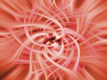 Energy Rose - Rose Red. This is an abstract image of a rose/flower made from converging energy lines in two different colors. This unique pattern and color stock illustration