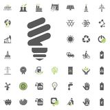 Energy save bulb icon. Eco and Alternative Energy vector icon set. Energy source electricity power resource set vector. Energy save bulb icon. Eco and Stock Images