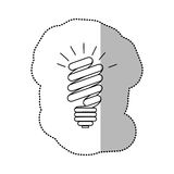 energy save bulb power icon Royalty Free Stock Image