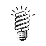 energy save bulb power icon Royalty Free Stock Photography
