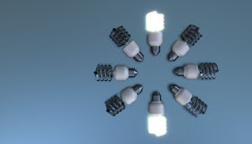Energy save bulbs Stock Photography