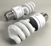 Energy Saver Bulb 3d Stock Photography