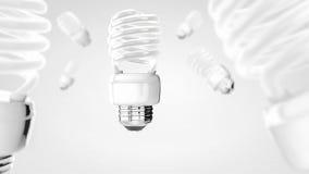 Energy saver bulb on white modern background Stock Photo
