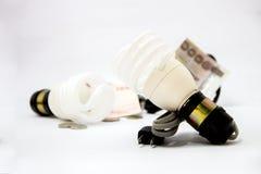 Energy saver bulbs cool daylight stock illustration